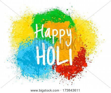 Colorful powder splashes for indian holiday - Holi