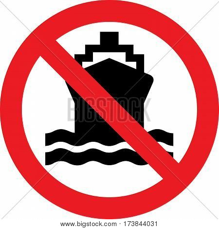 No ships allowed sign on a white background