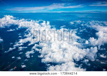 Ariel view of interesting and nice cloud formation.