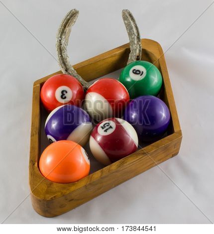 Nine Ball Pool Rack Looking For Some Luck