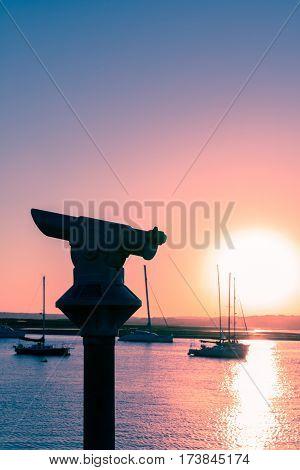 Sunset In Alvor