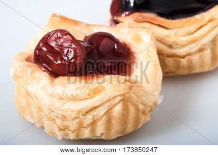 Close Up Danish Pastries