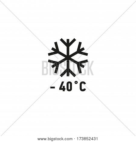 Safe for use on freezer symbol isolated on white background vector illustration. Product suitable for freezing sign. International standard black packaging pictogram