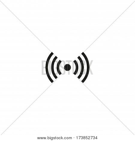 Non-ionizing radiation symbol isolated on white background vector illustration. Equipment and systems with RF transmitter. International standard black packaging pictogram