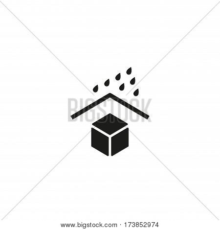 Keep away from water symbol isolated on white background vector illustration. Water protection cargo sign. International standard black packaging pictogram