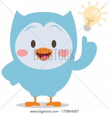 Character owl with idea vector collection stock