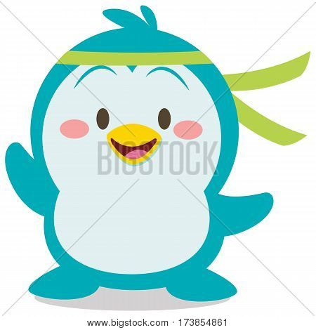 Cute penguin character vector art collection stock