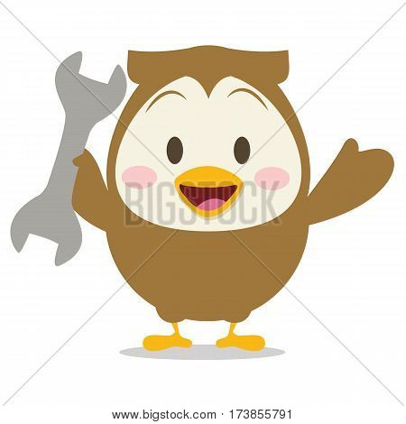 Collection owl with tool design vector art