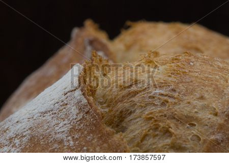 Golden Brown Slice On French Roll close up