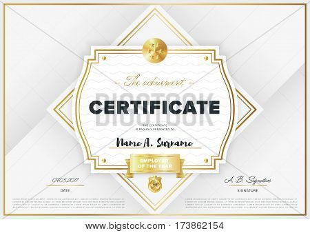 Certificate Vector Template Vector Photo Bigstock