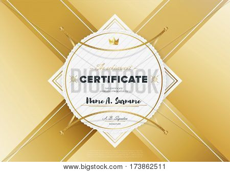 Certificate Vector Vector Photo Free Trial Bigstock