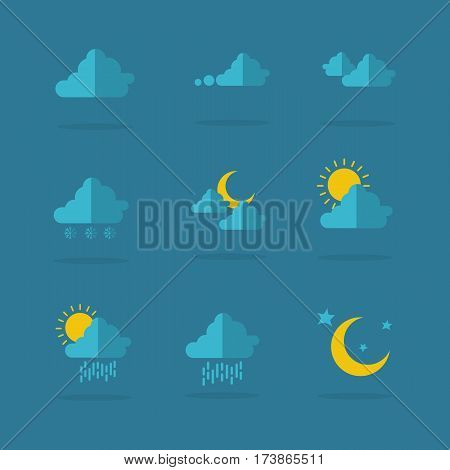 Illustration of weather icon set collection stock