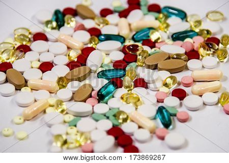 drug prescription, narcotics or drugs on white counter, drug prescriptions for treatment medication, drugs concept.