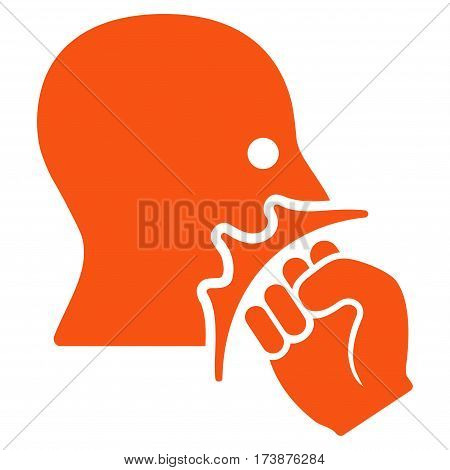 Face Violence Strike vector icon. Flat orange symbol. Pictogram is isolated on a white background. Designed for web and software interfaces.