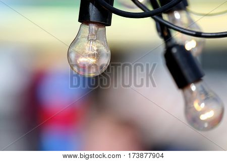 the a included hanging electric buld lamp