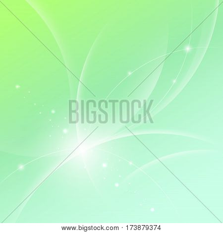 Vector Background With Abstract Glowing Lines And Glitter.