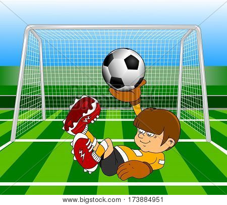 new soccer design element; green; background (vector-illustration);