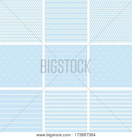 Set Of Geometric Line Abstract Seamless Pattern With Triangle  And Rectangle