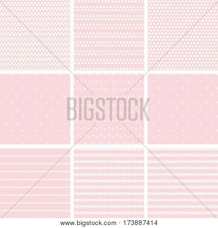 Set Of Geometric Line Abstract Seamless Pattern With Triangle  And Rectangleset Of Geometric Line Ab