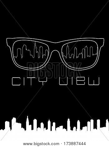 City skyline concept vector illustration. Can be use as print on t shirts.