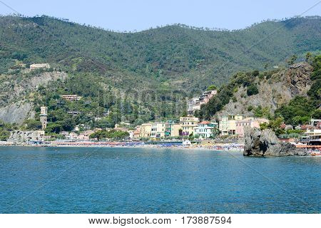 The Beach Of Monterosso On Cinque Terre
