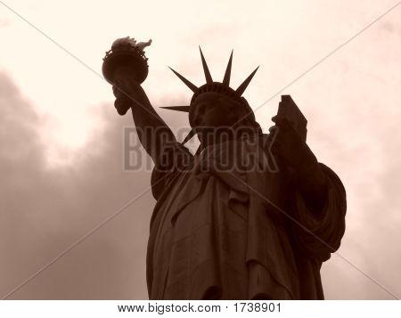 Sepia Statue Silhouette