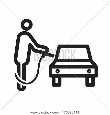 Fuel, gas, pump icon vector image. Can also be used for city lifestyle. Suitable for use on web apps, mobile apps and print media.