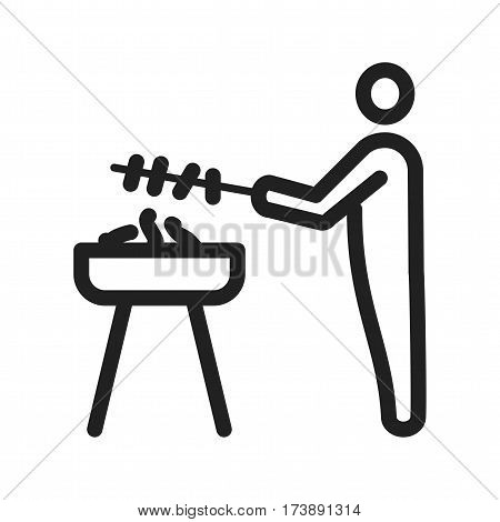 Food, barbeque, grill icon vector image. Can also be used for city lifestyle. Suitable for web apps, mobile apps and print media.