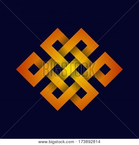 Celtic square figure isolated on dark background