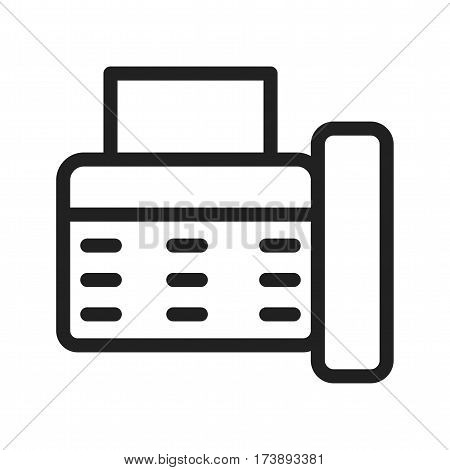 Fax, machine, reciept icon vector image. Can also be used for web interface. Suitable for web apps, mobile apps and print media.