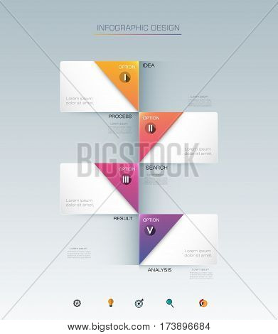 Vector Infographic label design with icons and 4 options or steps. Infographics for business concept. Can be used for presentations, banner, workflow, layout, process, diagram, flow chart, info graph