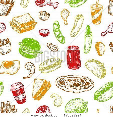 Fast Food, Pattern.