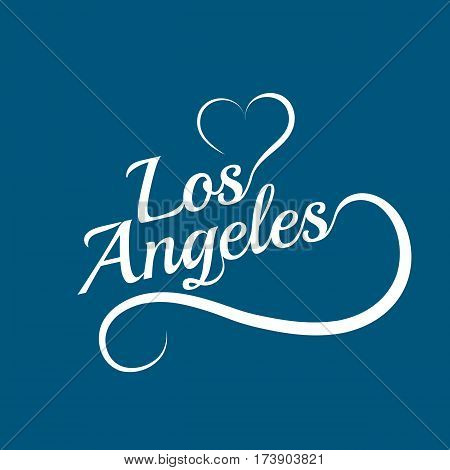Made with love in Los Angeles. City of United States of America. Editable logo vector design.