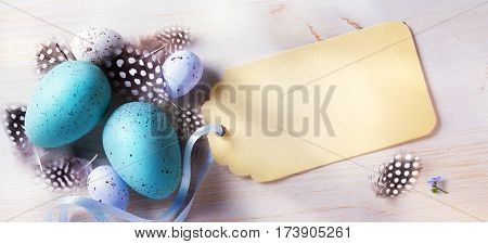 Happy Easter day; festive background with easter eggs and holidays card
