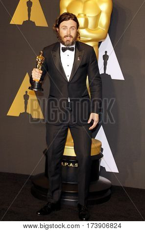 Casey Affleck at the 89th Annual Academy Awards - Press Room held at the Hollywood and Highland Center in Hollywood, USA on February 26, 2017.