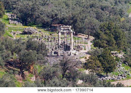 Athena Pronaia Sanctuary At Delphi
