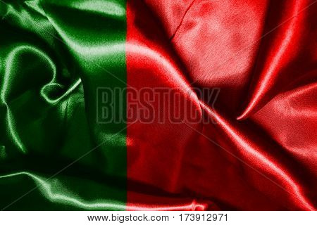 Portugal National Flag Waving In The Wind 3D illustration