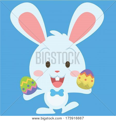 Cute easter bunny collection stock vector art