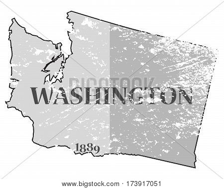 Washington State And Date Grunged