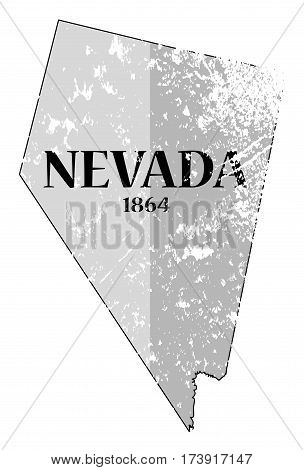 Nevada State And Date Grunged