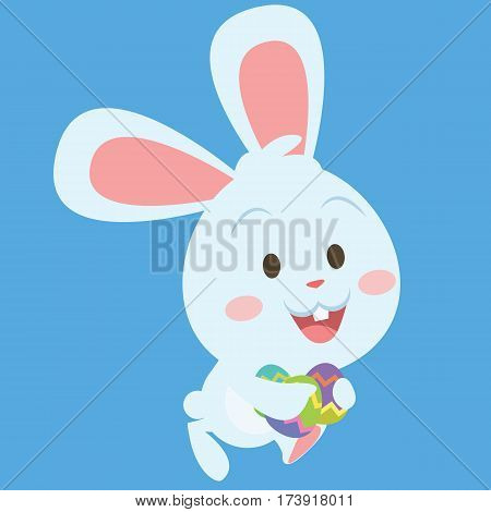 Bunny running character vector art collection stock