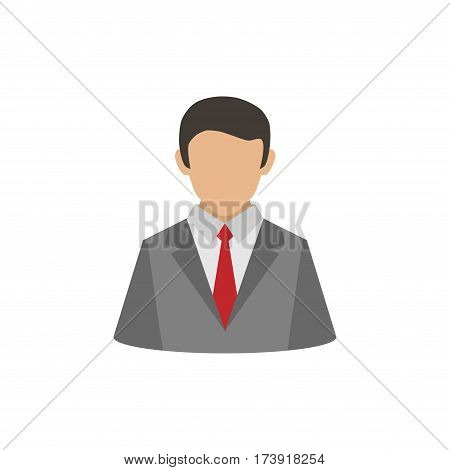 Abstract human silhouette with suit and tie