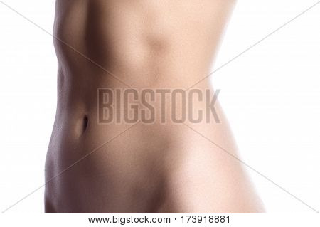 Beautiful Female Slim Body. Woman's Shape With Clean Skin. Diet And Fitness. Ideal Waist, Perfect Bu