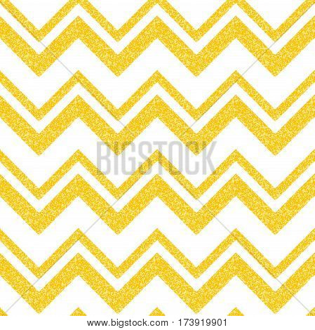 Gold glittering seamless pattern in zigzag. Classic chevron seamless pattern. Vector vintage design. Can be use for certificate, gift, voucher, present, discount, invitation, wedding card.