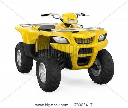 All-Terrain Vehicle isolated on white background. 3D render poster