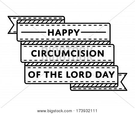 Circumcision of the Lord Day emblem isolated vector illustration on white background. 14 january orthodox holiday event label, greeting card decoration graphic element