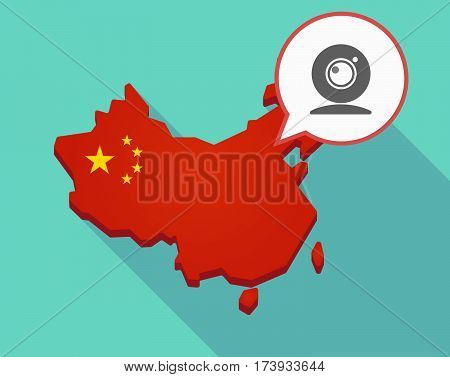 Map Of China With A Web Cam
