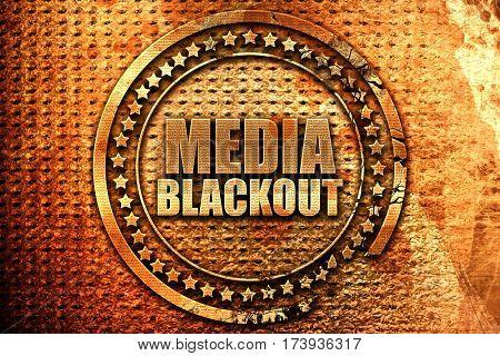 media blackout, 3D rendering, metal text