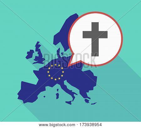 Eu Map With A Christian Cross