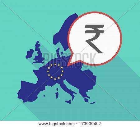 Eu Map With A Rupee Sign